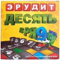 Фото Настольная игра Эрудит Десять в ряд