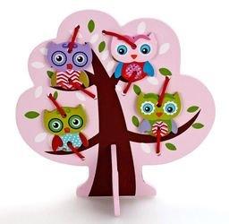 Фото Шнуровка деревянная Дерево с совятами (76429)