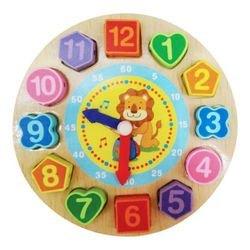 Фото Развивающая игрушка Часы со шнуровкой  в ассортименте (76650)