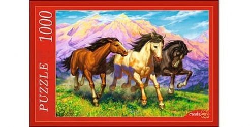 Фото ПазлРезвые лошади, 1000 элементов (Ф1000-7815)
