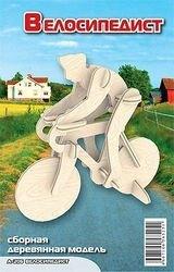 Фото Сборная деревянная модель Велосипедист (А206)