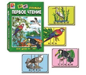 Фото Настольная развивающая игра Первое чтение Птицы (С-458)