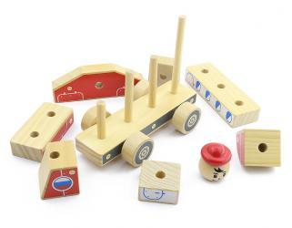 Деревянная игрушка Автомобиль-конструктор 4 Самолёт (Д062) фотография 2