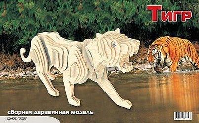 Фото Сборная деревянная модель Тигр (М003с)