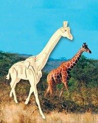 Фото Сборная деревянная модель Жираф (М020)