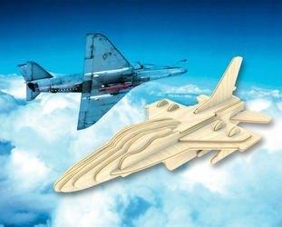 Фото Сборная деревянная модель Самолет F16 (П040)