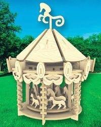 Фото Сборная деревянная модель Карусель (П082)