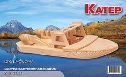 Фото Сборная деревянная модель Катер (П091)