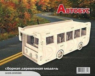 Фото Сборная деревянная модель Автобус (П092)