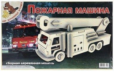 Фото Сборная деревянная модель Пожарная машина (П103)