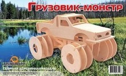 Фото Сборная деревянная модель Грузовик-монстр (П137)