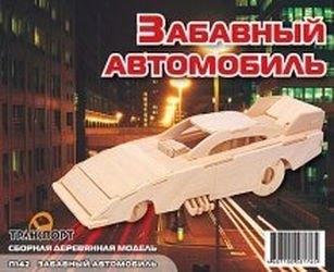 Фото Сборная деревянная модель Забавный автомобиль (П142)