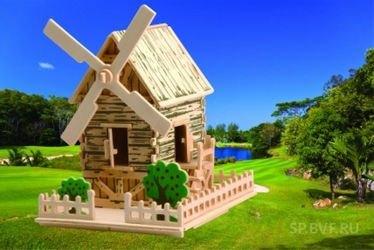 Фото Сборная деревянная модель Ветряная мельница малая (П151)