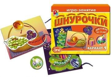 Фото Настольная развивающая игра Шнурочки-1 (С-283)