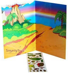 Игра с волшебными наклейками Динозавры фотография 2