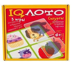 Фото Развивающие пластиковое лото Силуэты (4+) Комплект из трех игр