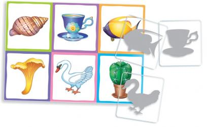 Развивающие пластиковое лото Силуэты (4+) Комплект из трех игр фотография 4