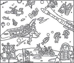 Напольная раскраска Космическое путешествие (9634) фотография 2