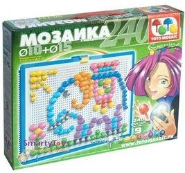 Мозаика 240 элементов, 10мм + 15мм в чемоданчике (00-154) фотография 2