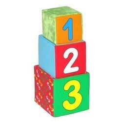 Мягкие кубики Мякиши РАЗ, ДВА, ТРИ фотография 1