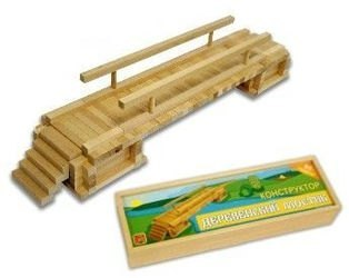 Конструктор деревянный мост деревенский фотография 2