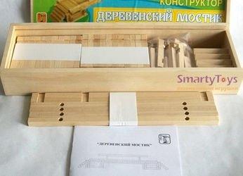 Конструктор деревянный мост деревенский фотография 3