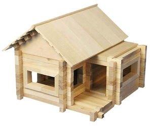 Конструктор деревянный из бревнышек Ниф-Ниф - изобретатель  фотография 1