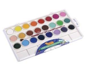 Фото Краски акварельные 24 цвета с кистью (800/24)