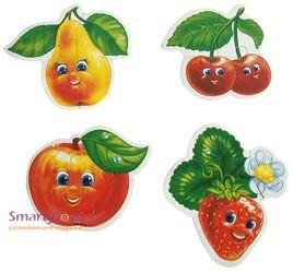 Мягкие пазлы Ягоды-фрукты фотография 3