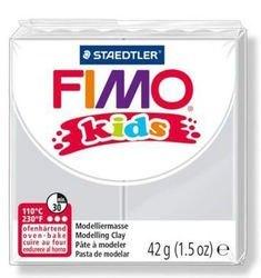 """Фото Полимерная глина для детей FIMO kids """"Светло-серая"""" 42 гр. (8030-80)"""