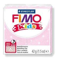 """Фото Полимерная глина для детей FIMO kids """"Перламутровая светло-розовая"""" 42 гр. (8030-206)"""