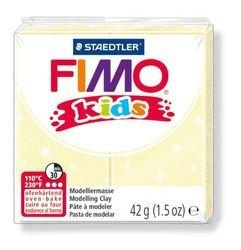 """Фото Полимерная глина для детей FIMO kids """"Перламутровая светло-желтая"""" 42 гр. (8030-106)"""