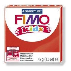 """Фото Полимерная глина для детей FIMO kids """"Красная"""" 42 гр. (8030-2)"""