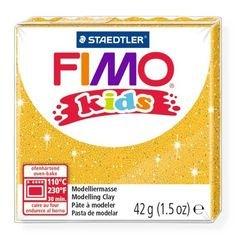 """Фото Полимерная глина для детей FIMO kids """"Блестящая золотая"""" 42 гр. (8030-112)"""