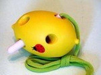 Фото Шнуровка деревянная Лимон объемная (Ш-047)