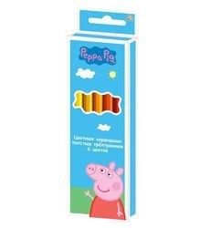 Фото Цветные карандаши  толстые 6 цветов Свинка Пеппа (29110)