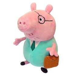 """Фото Мягкая игрушка Свинка Пеппа """"Папа Свин с  кейсом"""" 30 см (30292)"""
