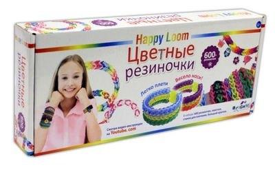 Фото Набор для плетения из резиночек (600 резиночек, станок, крючок, замки) Happy Loom (01785)
