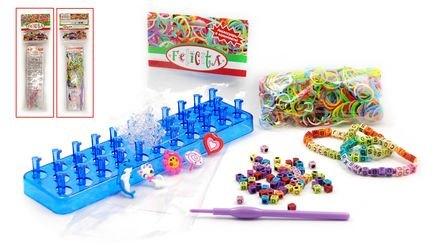 Фото Набор для плетения из резиночек (500 резиночек, буквы, крючок, станок, подвески) AND15-1-6