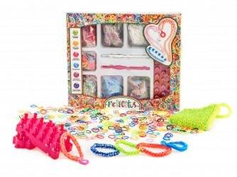 Фото Набор для плетения из резиночек (1200 резиночек, 2 крючка, 2  станка, дополнительные украшения) AND15-3-3