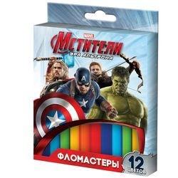 """Фото Набор фломастеров 12 цветов Marvel """"Мстители"""" (28992)"""