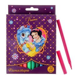 """Фото Набор фломастеров 24 цвета """"Принцессы"""" (22605)"""