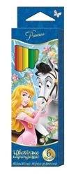 """Фото Цветные карандаши """"Принцессы"""" 6 цветов толстые (22587)"""