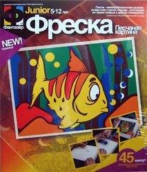 """Фото Фреска (песчаная картинка) """"Рыбка"""""""