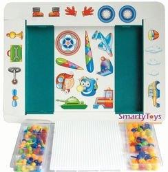 Мозаика для детей с аппликацией Техника 100 эл., 10мм + 15мм (00-184) фотография 2