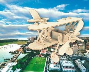 Фото Сборная деревянная модель Аэроплан (П002)