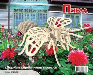 Фото Сборная деревянная модель Пчела (Е018)