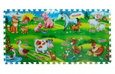Фото Детский коврик-пазл Домашние животные 8 сегментов (FS-FARM)