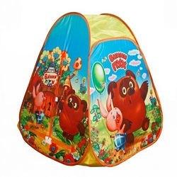"""Фото Детская игровая палатка """"Винни Пух"""" 81*91*81 см  в сумке (GFA-VN01-R)"""