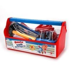 """Фото Детский набор строительных инструментов """"Фиксики"""" в пластиковом ящике (B619659-R1)"""
